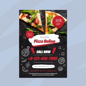 Modèle de flyer de restaurant de nourriture saine