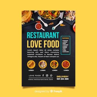 Modèle de flyer de restaurant de pizza moderne