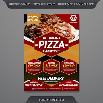 Modèle de flyer restaurant pizza