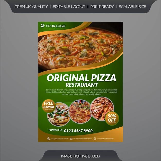 Modèle de flyer restaurant pizza