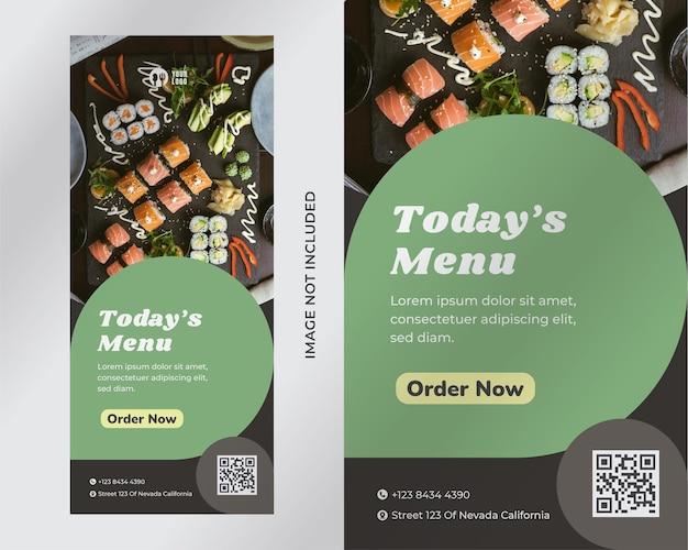 Modèle de flyer de restaurant
