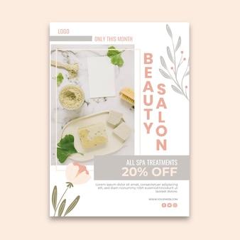 Modèle De Flyer De Salon De Beauté Vecteur gratuit