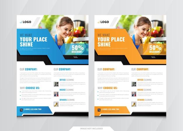 Modèle de flyer de services de nettoyage