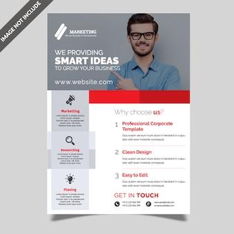 Modèle de flyer de simple entreprise