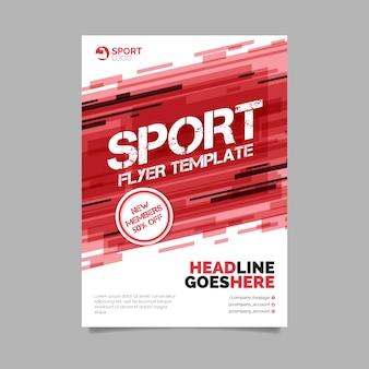 Modèle de flyer sport abstrait