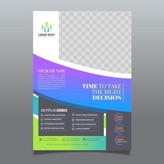Modèle de flyer de style d'entreprise
