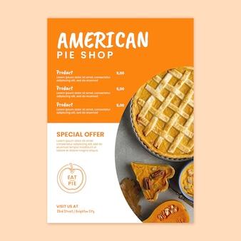 Modèle de flyer de tarte américaine