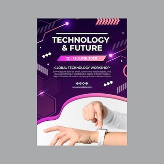 Modèle de flyer technologie et futur