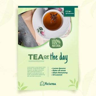 Modèle de flyer de thé matcha