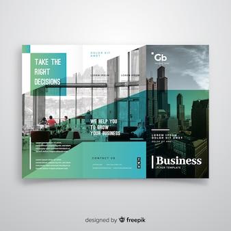 Modèle de flyer à trois volets d'affaires