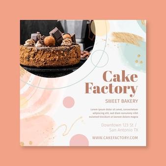 Modèle de flyer d'usine de gâteau
