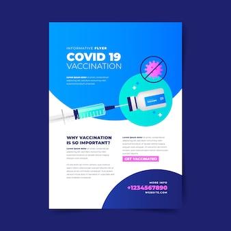 Modèle de flyer de vaccination contre le coronavirus dégradé