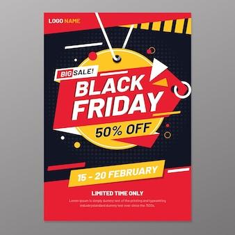 Modèle de flyer vendredi noir