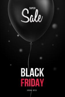 Modèle de flyer vendredi noir.