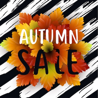 Modèle de flyer de vente automne avec lettrage