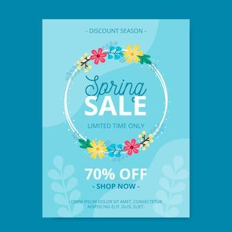 Modèle de flyer de vente de printemps plat