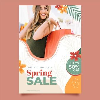 Modèle de flyer de vente de printemps