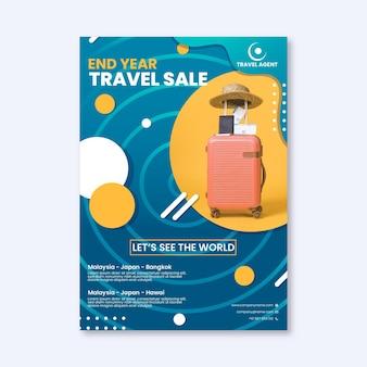 Modèle de flyer de vente de voyage