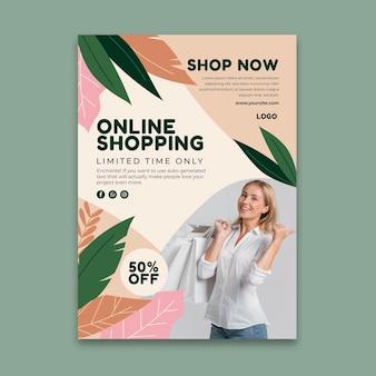 Modèle de flyer vertical d'achat en ligne