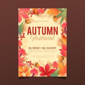 Modèle de flyer vertical automne dégradé