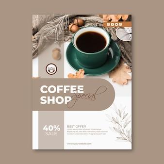Modèle de flyer vertical de café