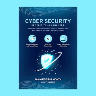 Modèle de flyer vertical de cybersécurité