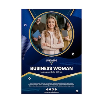 Modèle de flyer vertical femme d'affaires