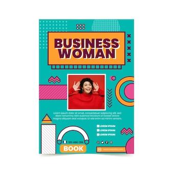 Modèle de flyer vertical de femme d'affaires