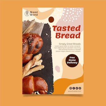 Modèle de flyer vertical de pain