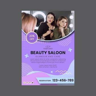 Modèle de flyer vertical de salon de beauté