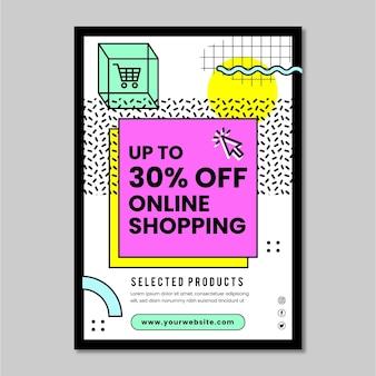 Modèle De Flyer Vertical Shopping En Ligne Vecteur Premium