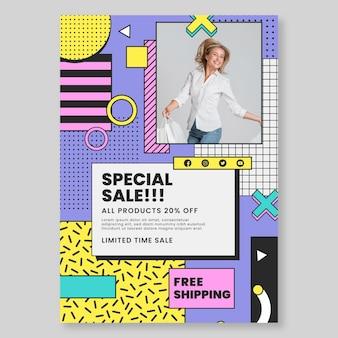 Modèle de flyer vertical shopping en ligne