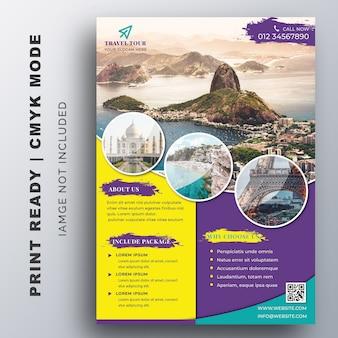 Modèle de flyer de visite et voyage