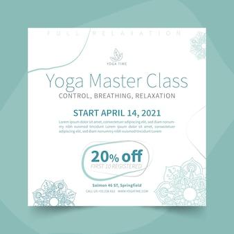 Modèle de flyer yoga carré