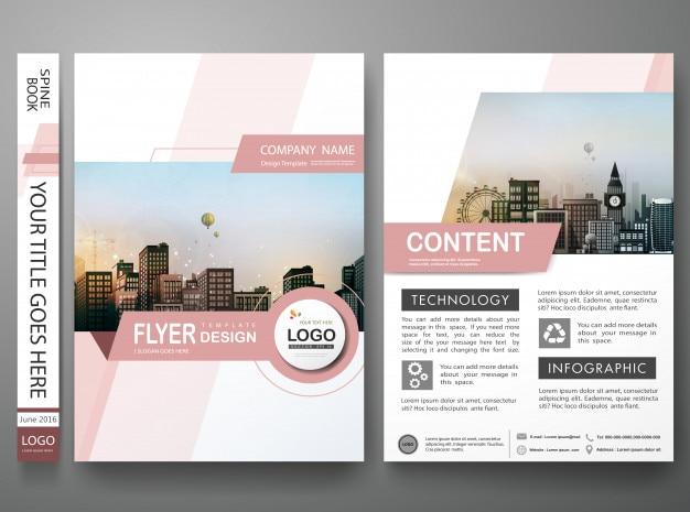 Modèle de flyers de brochure.
