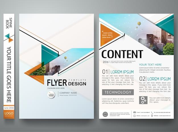 Modèle de flyers d'entreprise brochure minime