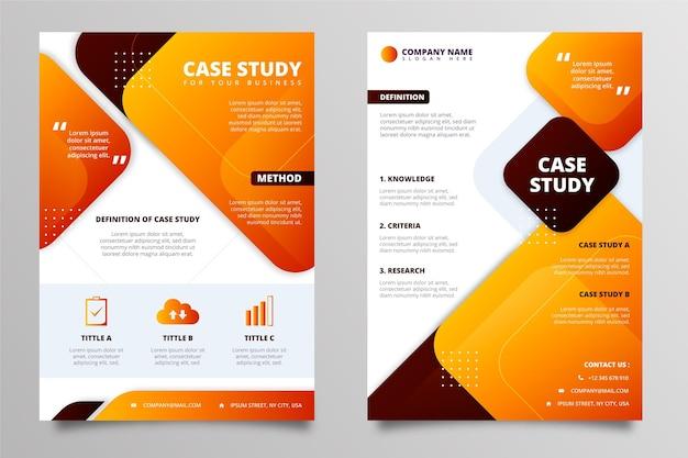 Modèle de flyers d'étude de cas dégradé