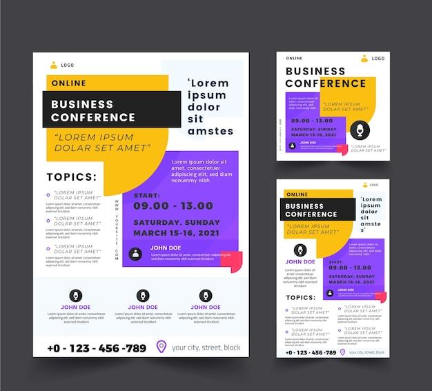 Modèle de flyers de webinaire