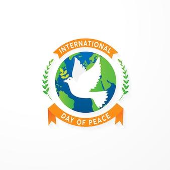 Modèle de fond de 21 septembre jour de paix