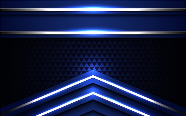 Modèle de fond 3d métallique abstraite moderne sombre