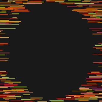 Modèle de fond abstrait chaotique à rayures arrondies horizontales