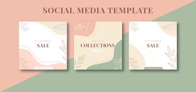 Modèle de fond abstrait instagram esthétique minimaliste