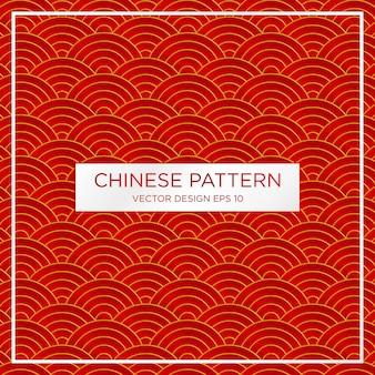 Modèle de fond abstrait motif chinois traditionnel