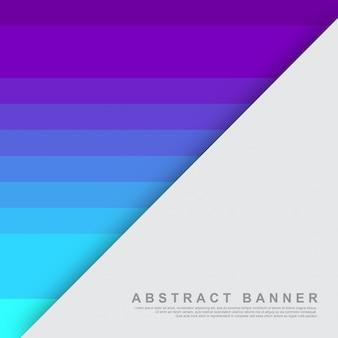 Modèle de fond abstrait plat violet, bleu et turquoise