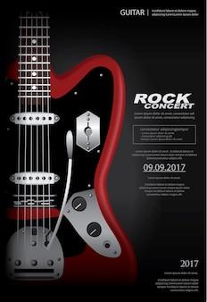 Modèle de fond d'affiche de concert rock