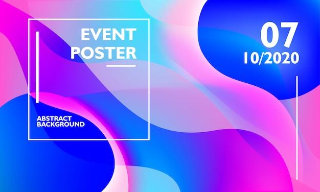 Modèle de fond affiche événement