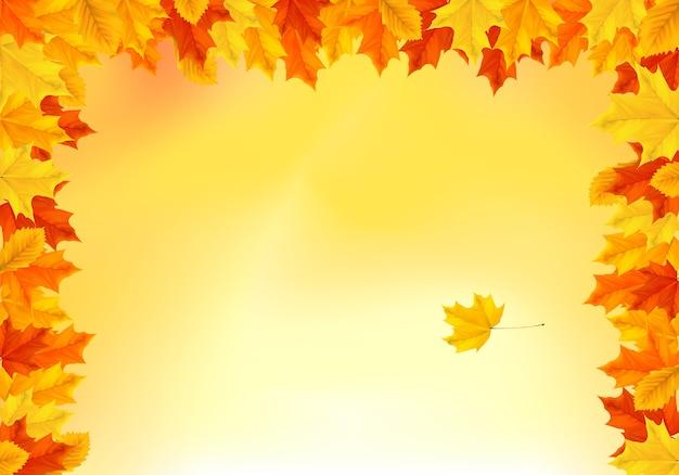 Modèle de fond automne orange chaud