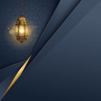 Modèle de fond bannière islamique