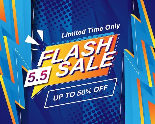 Modèle de fond de bannière de vente flash pour l'événement de vente 5.5