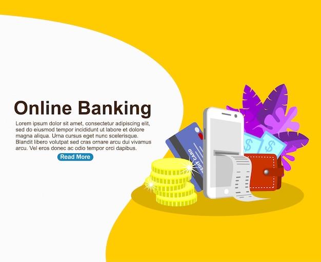 Modèle de fond de banque en ligne